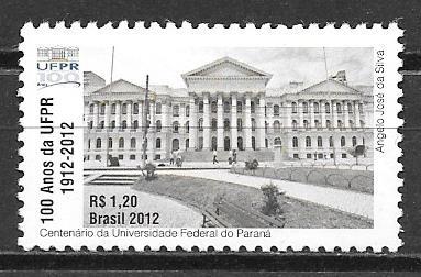 filatelia arquitectura Brasil 2012