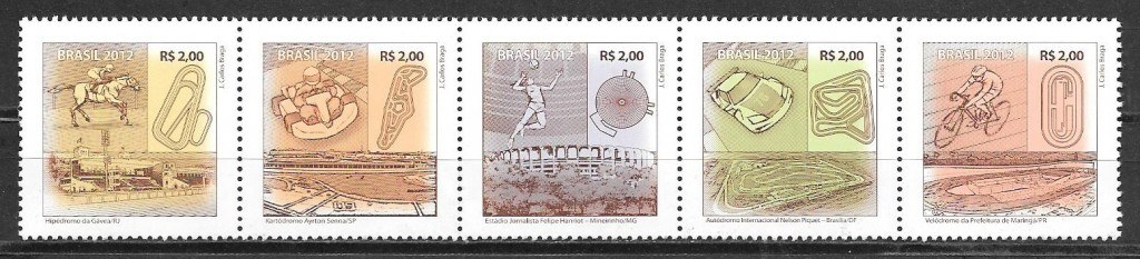 filatelia deporte Brasil 2012