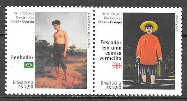 filatelia colección arte Brasil 2013