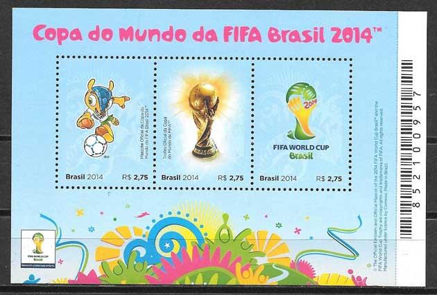 Sellos deporte Brasil 2014