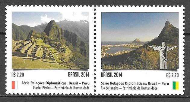 colección sellos turismo Brasil 2014