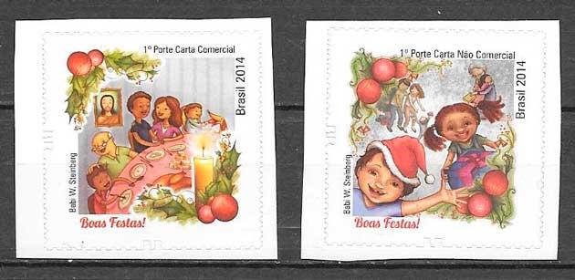 colección sellos navidad 2014