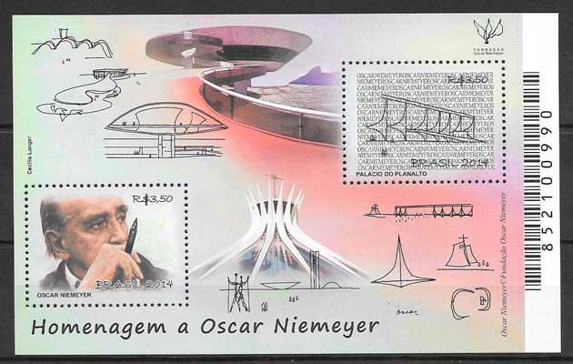 colección sellos arquitectura Brasil 2014