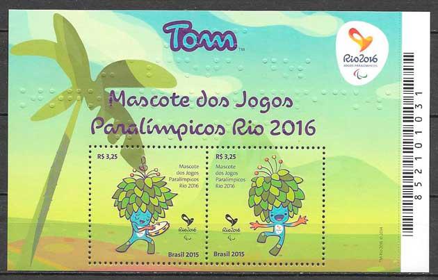 colección sellos deporte Brasil 2015