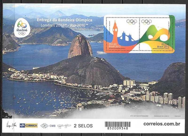 Sellos colección olimpiada Brasil 2016
