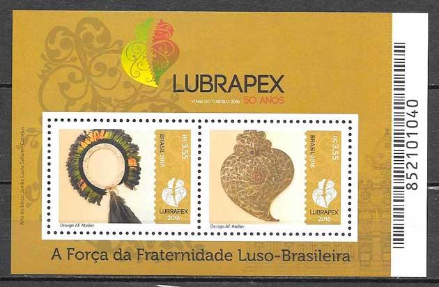filatelia colección arte Brasil 2016