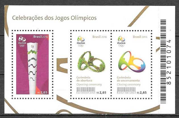 sellos deporte Brasil 2016