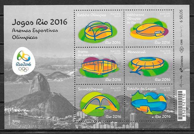 colección sellos deporte Brasil 2016