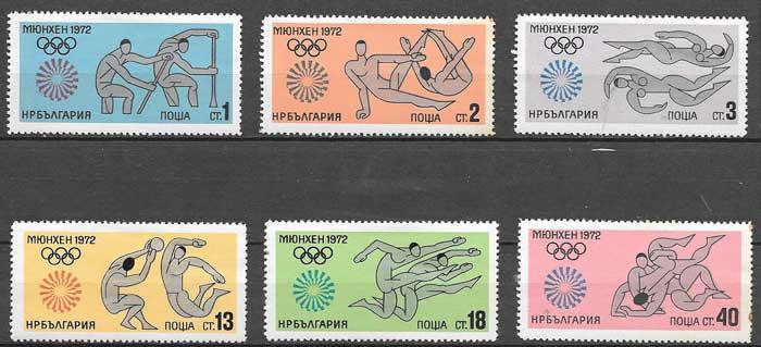 Sellos Bulgaria Olimpiada 1972