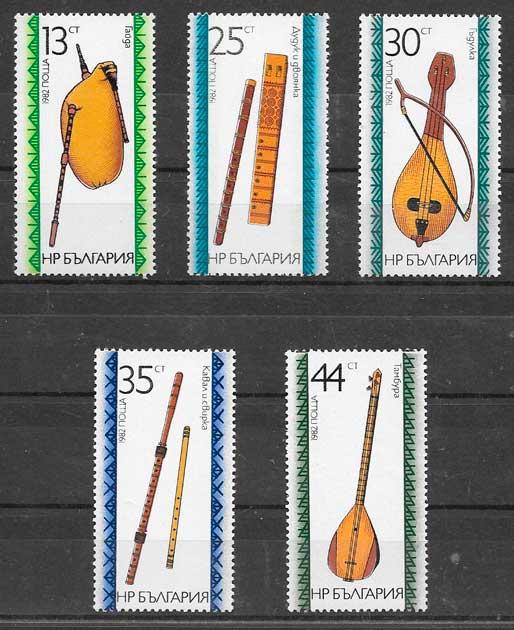 filatelia colección arte Bulgaria 1982