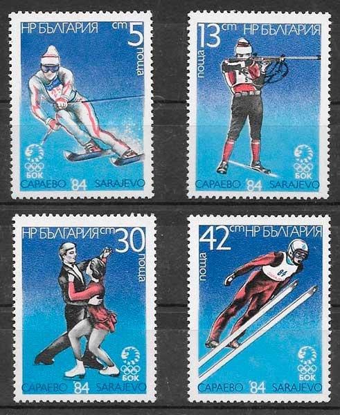 colección sellos deporte Bulgaria 1983