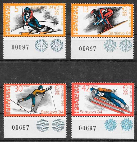 colección sellos deporte Bulgaria 1984