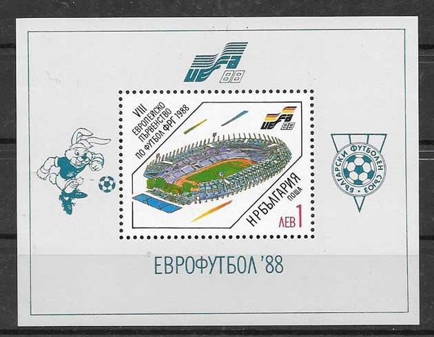 Colección sellos deporte Bulgaria 1988