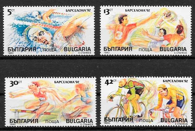 filatelia deporte Bulgaria 1990