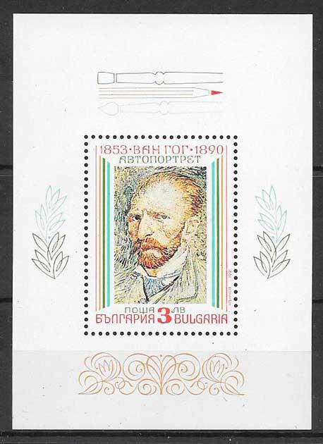 colección sellos arte Bulgaria 1991