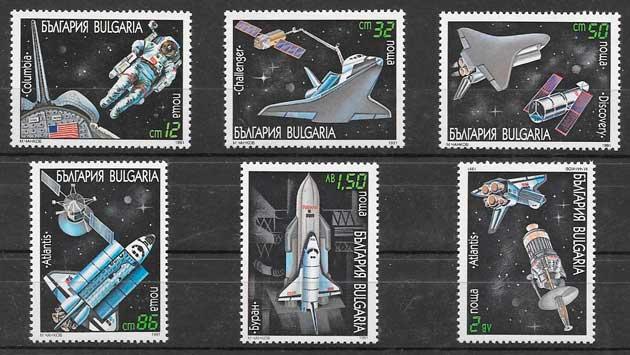 colección sellos espacio Bulgaria 1991