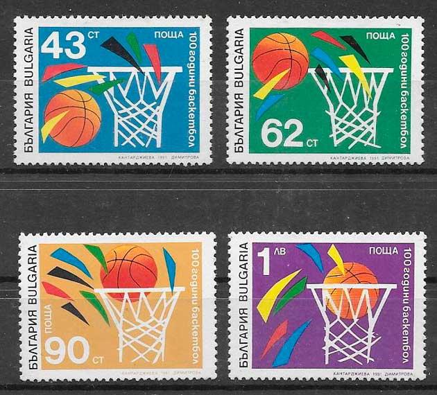 sellos deporte Bulgaria 1991