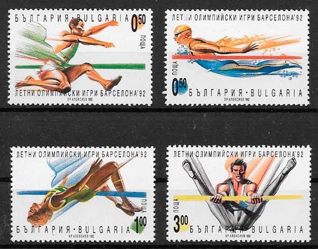 filatelia deporte Bulgaria 1992