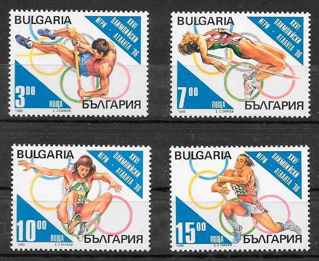colección sellos deporte Bulgaria 1995