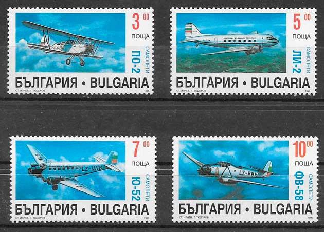 colección sellos transporte Bulgaria 1995