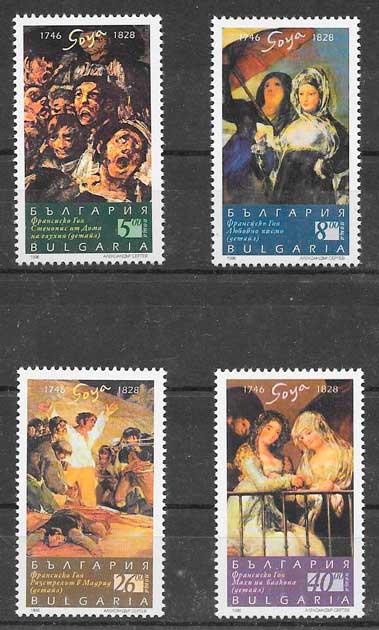 colección sellos arte Bulgaria 1996