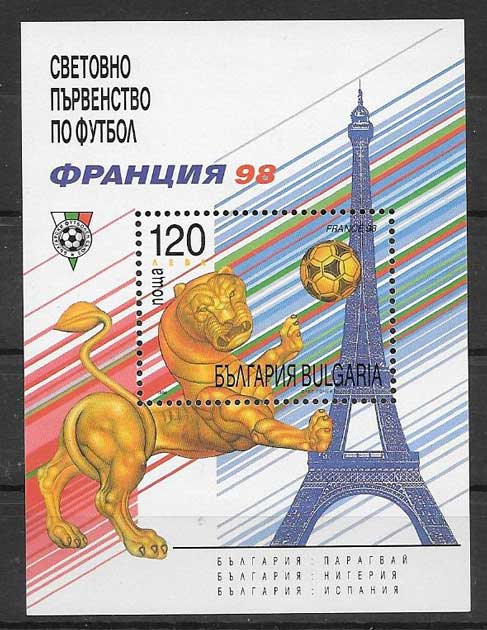 Sellos Bulgaria 1998 deporte fútbol