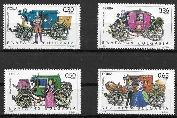 Filatelia transporte Bulgaria 2003