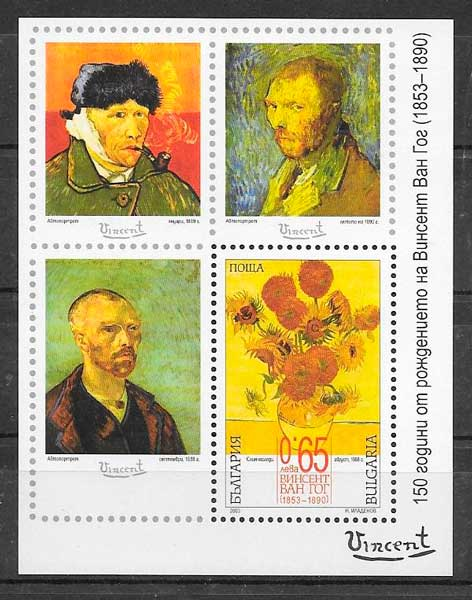 colección sellos arte Bulgaria 2003