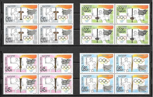 Filatelia sellos Juegos Olímpicos Atenas 2004