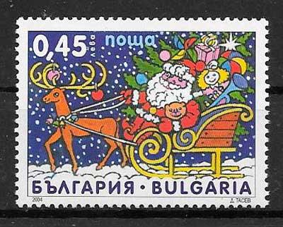 sellos navidad Bulgaria 2004