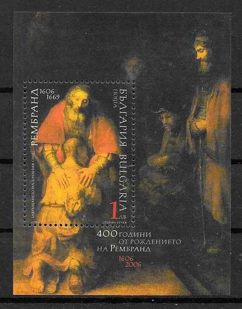colección sellos arte Bulgaria 2006