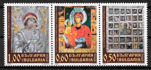 filatelia colección arte Bulgaria 2008