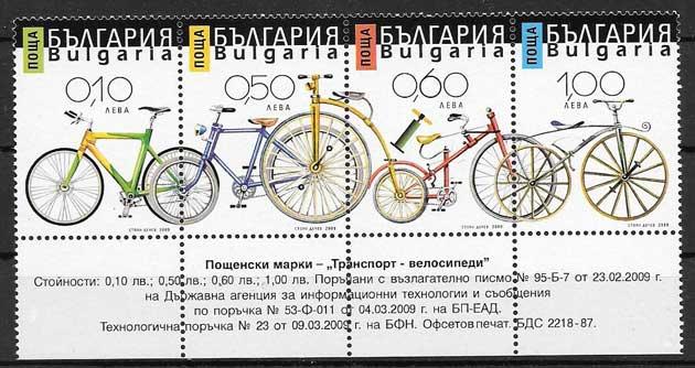 Colección sellos bicicletas Bulgaria 2009