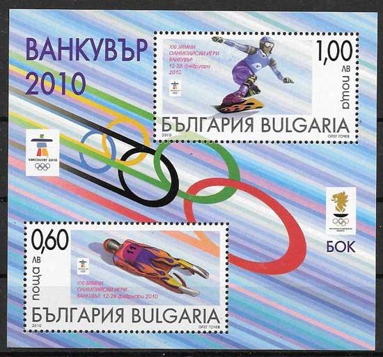 colección sellos deporte Bulgaria 2010