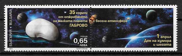 filatelia espacio Bulgaria 2011