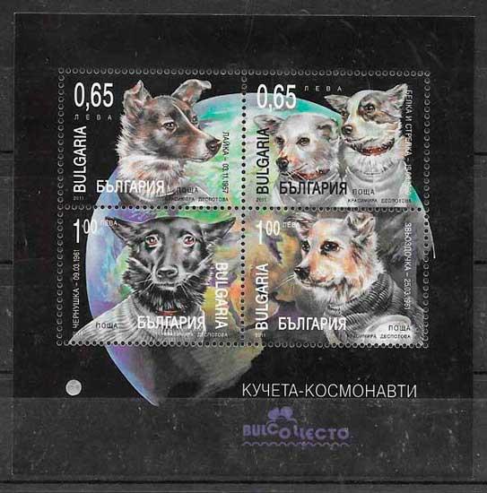 filatelia colección espacio Bulgaria 2011