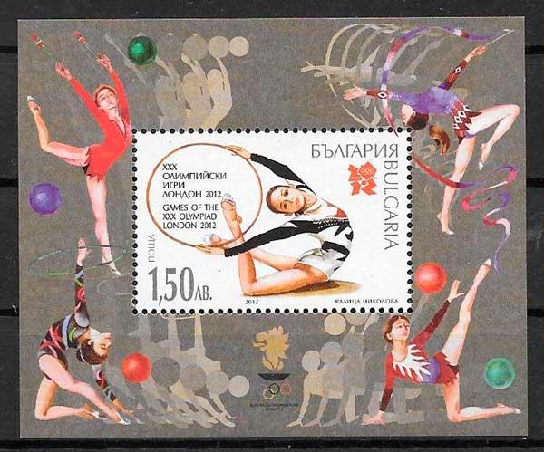 colección sellos deporte Bulgaria 2012