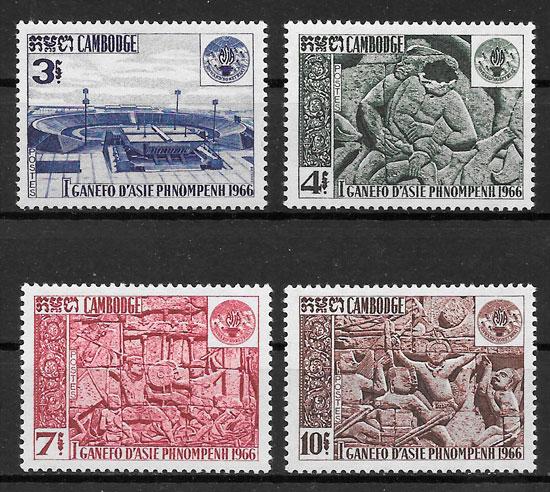 sellos deporte Camboya 1967