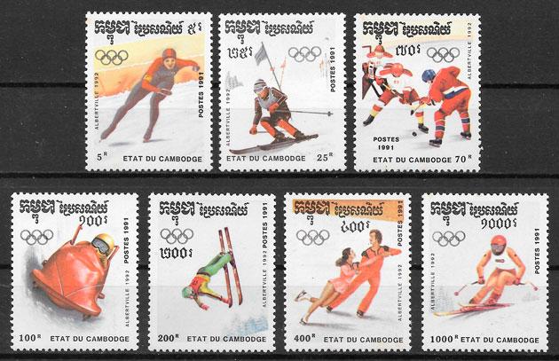 sellos deporte Camboya 1991