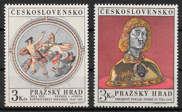 filatelia arte Checoslovaquia 1970