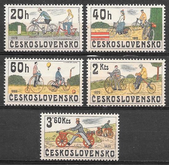 filatelia colección deporte Checoslovaquia 1979