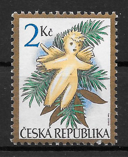 filatelia navidad Chequia 1994