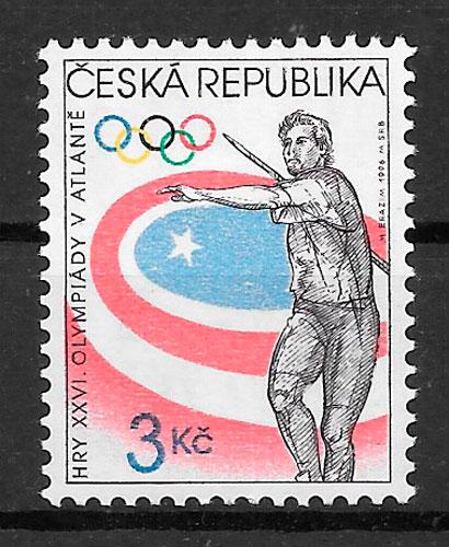 colección selos deporte Chequia 1996