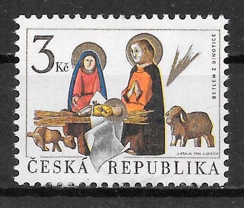 filatelia navidad Chequia 1996
