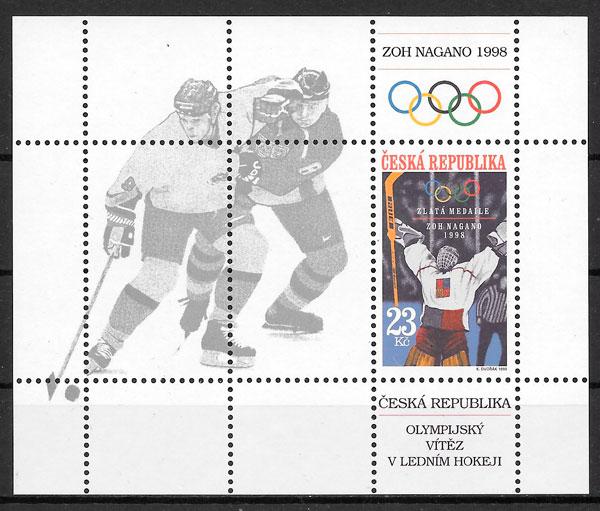 sellos deporte Chequia 1998