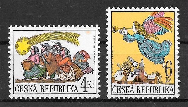 sellos navidad Chequia 1998