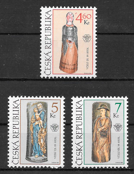 filatelia arte Chequia 1999