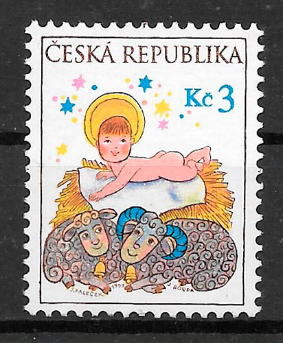 filatelia navidad Chequia 1999