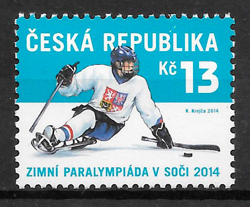 filatelia colección Chequia 2014