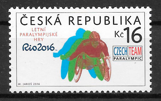 filatelia deporte Chequia 2016